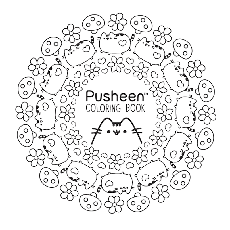 Download a page from the new Pusheen Coloring Book! | coloringbook ...