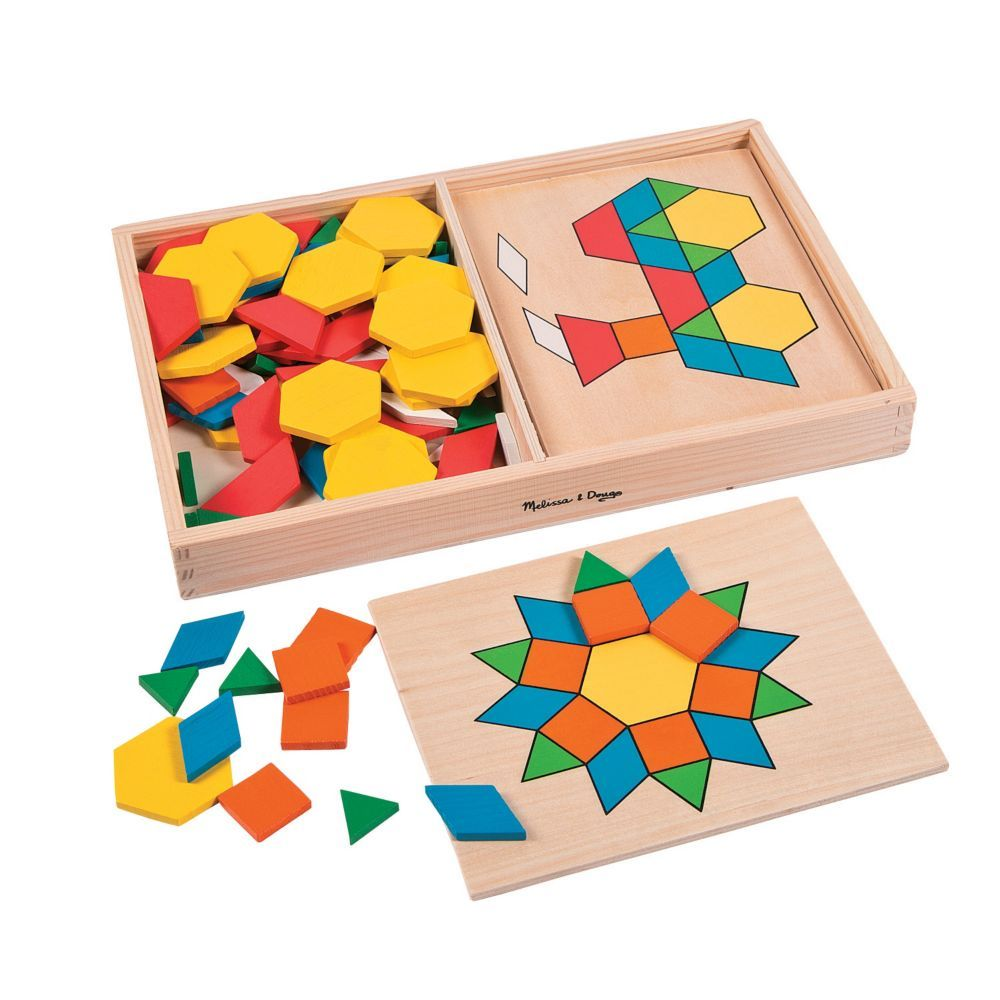 Melissa Doug Pattern Blocks Boards Puzzles In 2020 Pattern