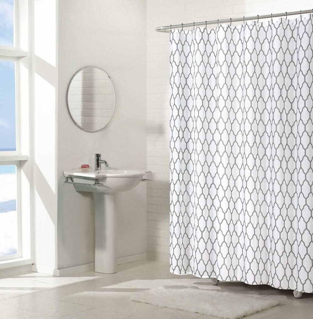 Regal Home Collections Aria Trellis Chic Fabric Shower