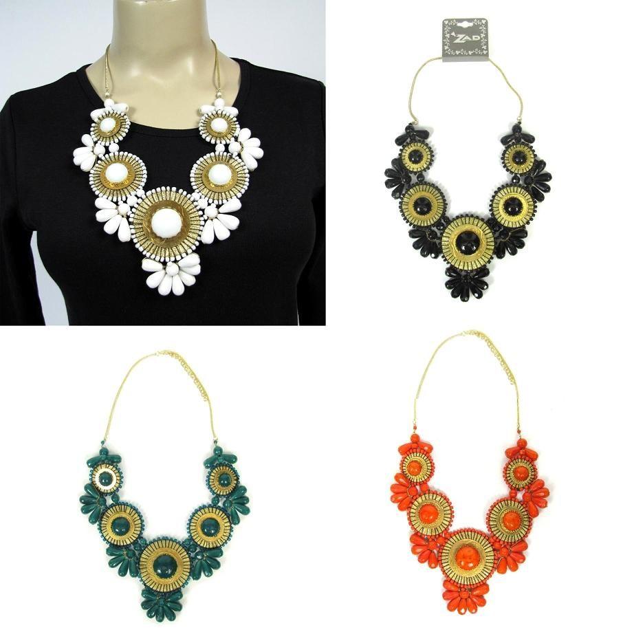 love the orange bib necklace