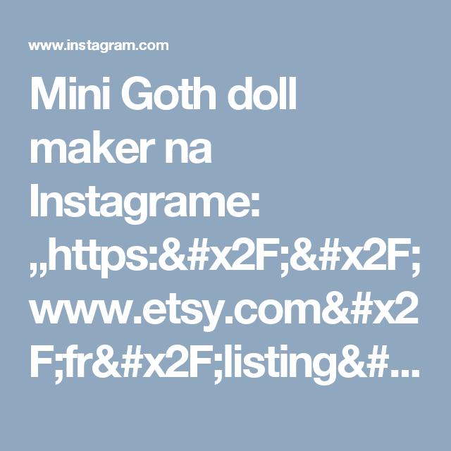 "Mini Goth doll maker na Instagrame: ""https://www.etsy.com/fr/listing/483218013/patron-de-poupee-au-cochet-de-type  #amigurumitoy #amigurumis #amigurumi #handmade #crochetlover…"""