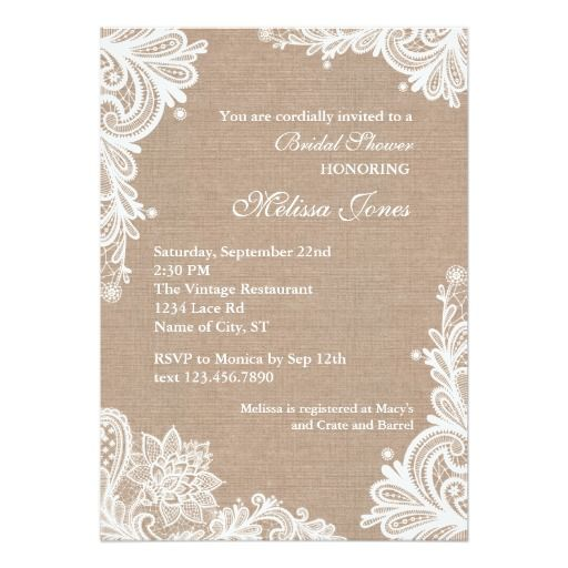 discount deals vintage burlap and lace bridal shower invitation online after you search a lot for - Vintage Wedding Shower Invitations