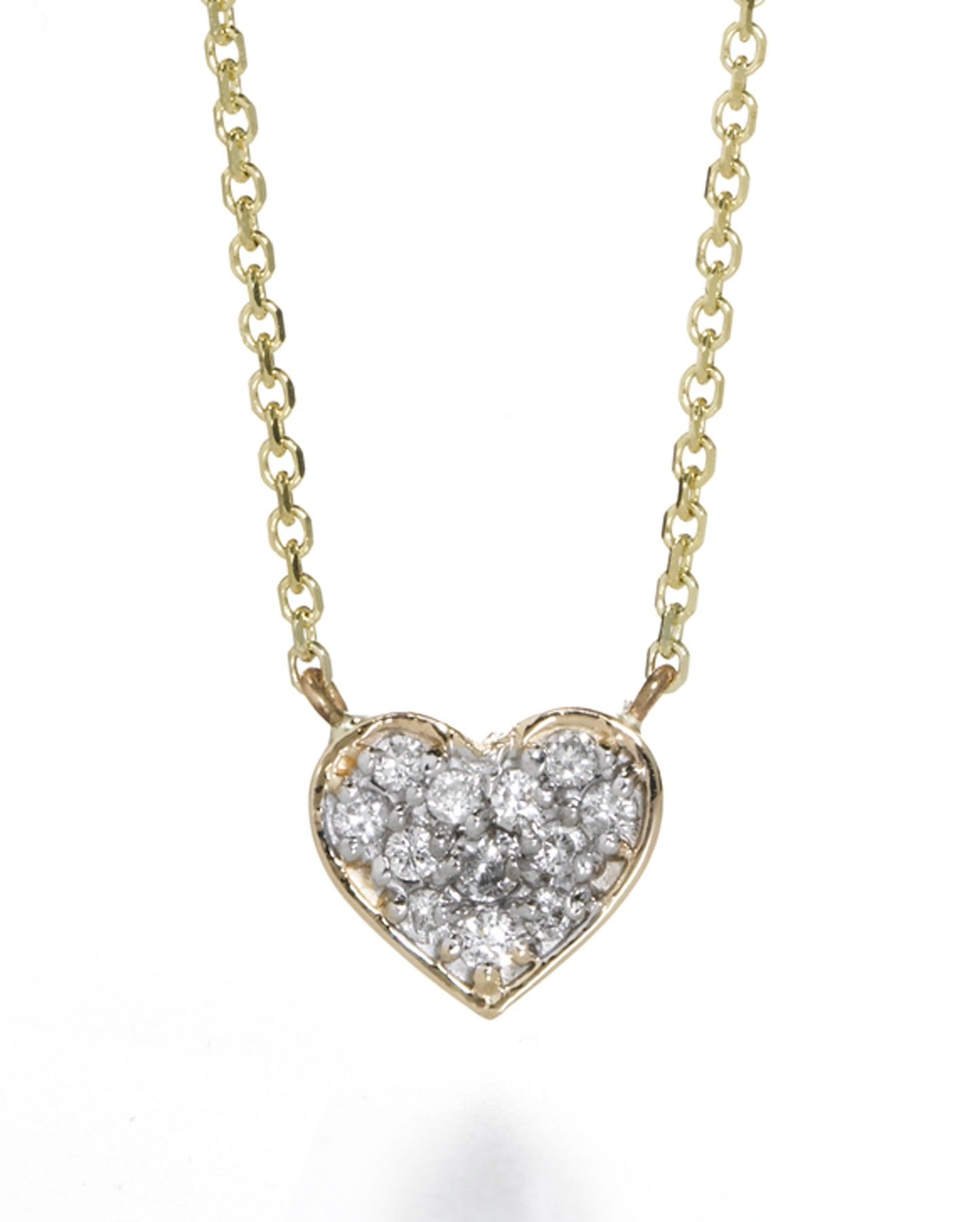 Kt lily diamond heart necklace by sarah chloe diamonds are a