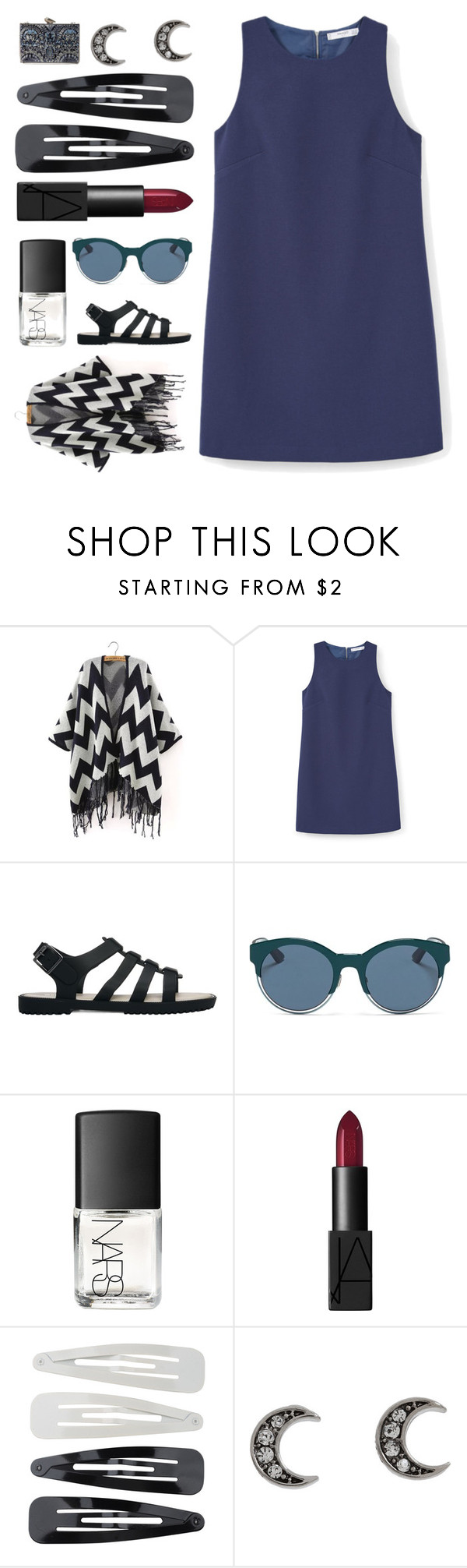 """half a heart"" by ouchm4rvel ❤ liked on Polyvore featuring MANGO, Melissa, Christian Dior, NARS Cosmetics, Forever 21, Juicy Couture and KOTUR"