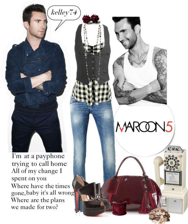 """Payphone ~ Maroon 5"" by kelley74 on Polyvore"