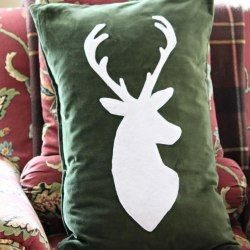 Deer Silhouette Holiday Pillow IKEA cover upstyle Love this for a rustic theme too. & 12 Holiday Ikea Hacks | Christmas | Pinterest | Ikea hack ... pillowsntoast.com