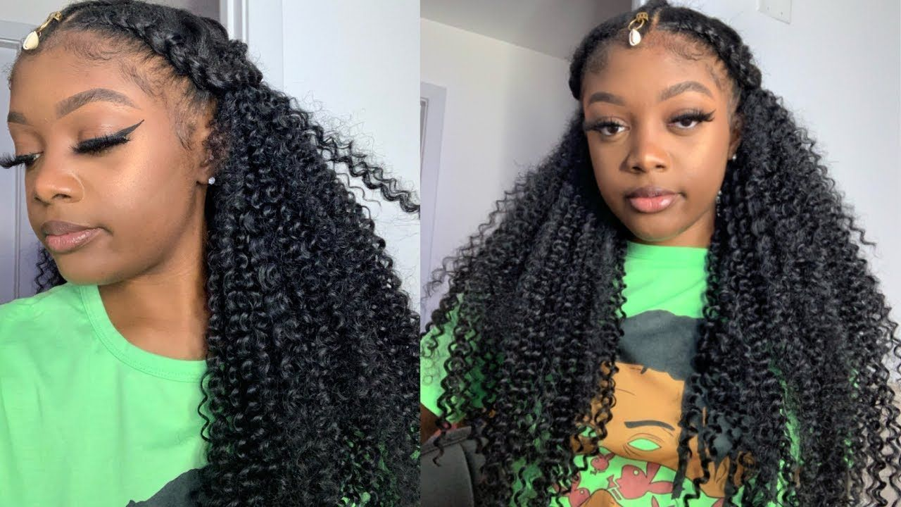 Long Curly Hand-Braided Wig, Lace Front Wig, Fulani Braided Wig, Tribal Braid Wig, Human Blend Wig, Cornrow Wig // SHEBA