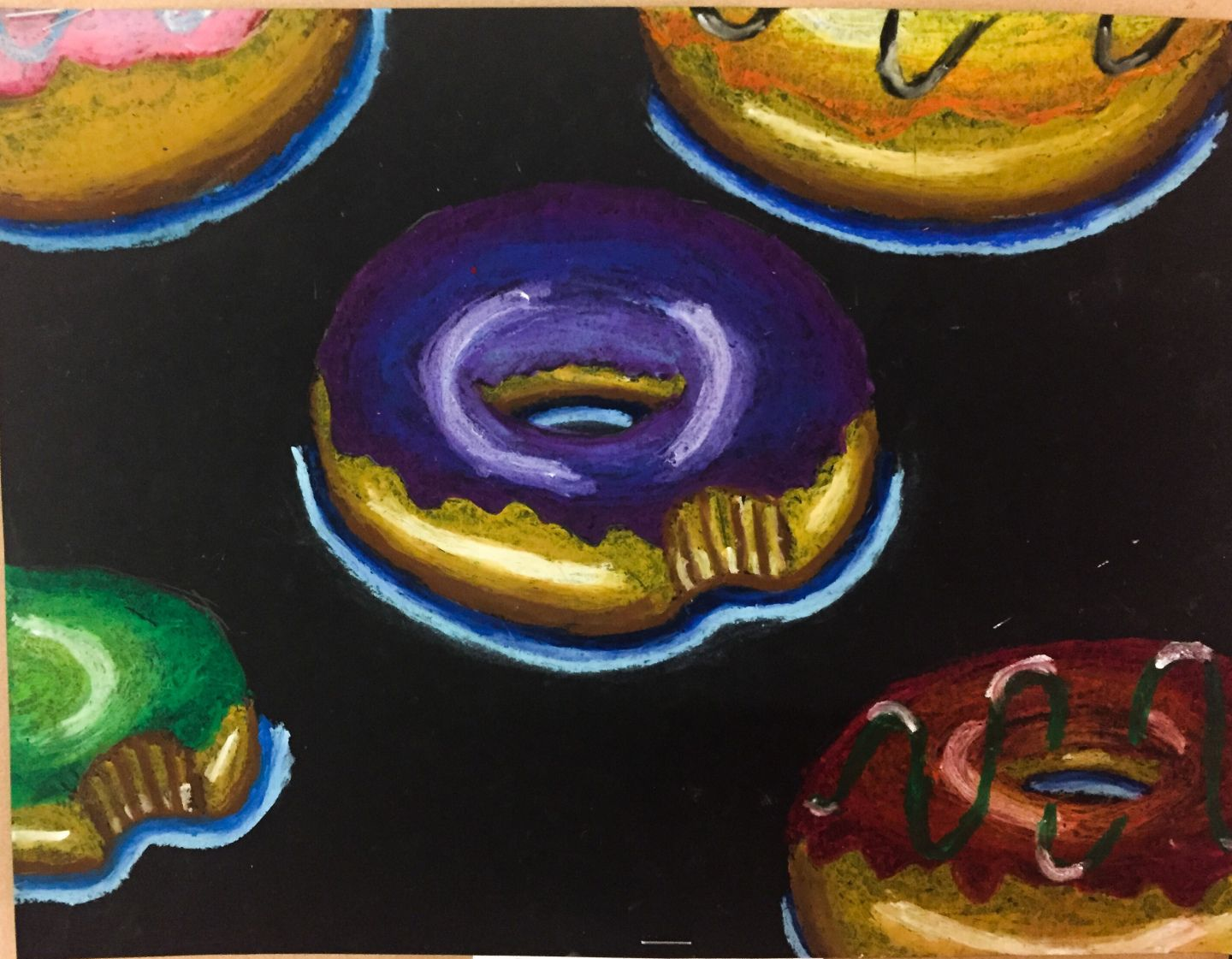 Donut Oil Pastel Lesson Plan With Images
