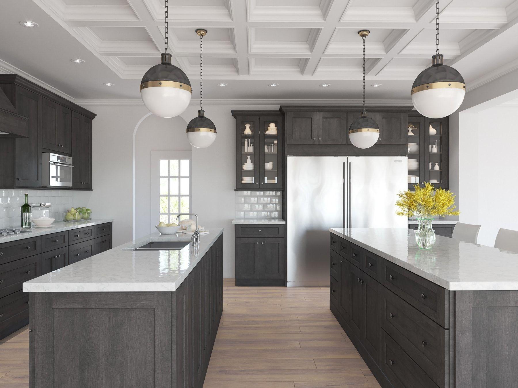 natural grey shaker - ready to assemble kitchen cabinets - kitchen