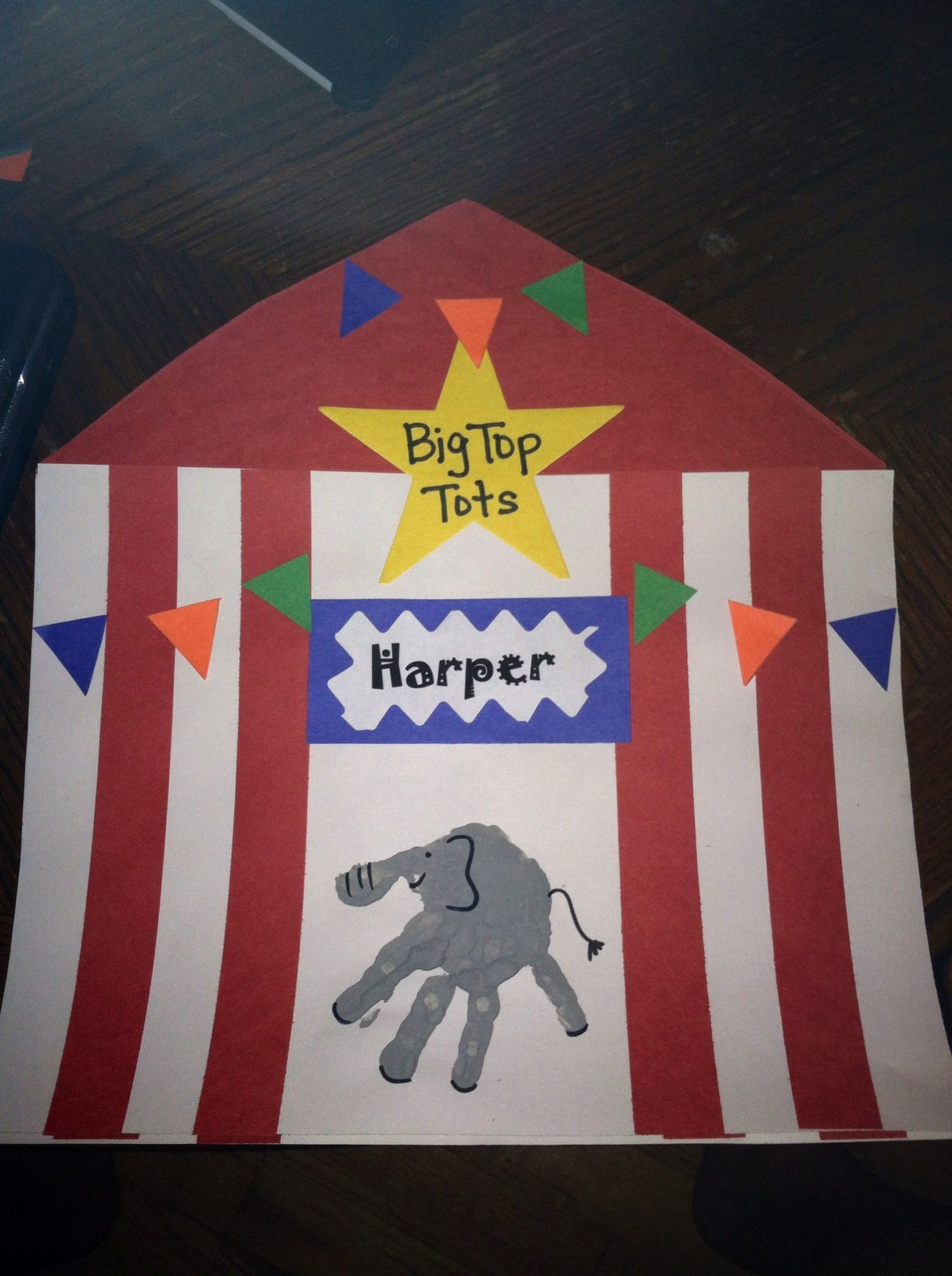 Circus Themed Preschool Placemat