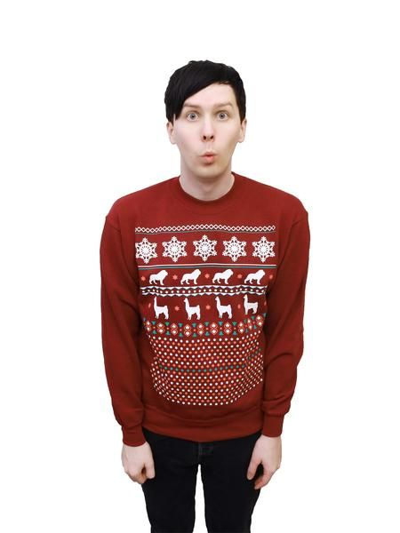 Dan And Phil Christmas Sweater.Featured Product Ideas For Gifts For Me If Anyone Needs It