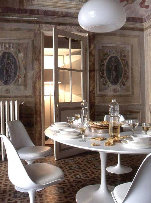 Riedizione tavolo saarinen tavolo ovale enorme 244x137 h72 ...