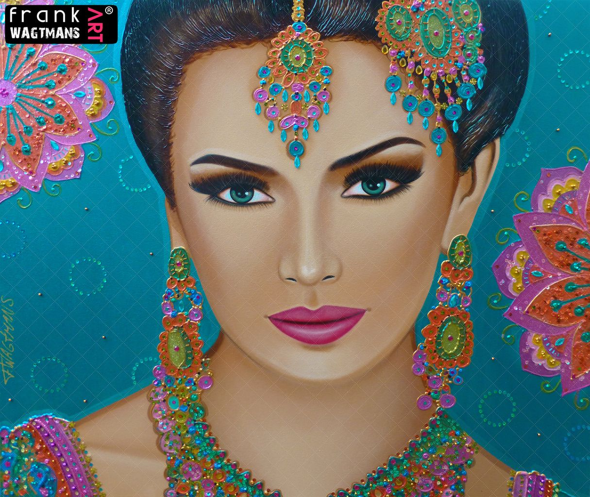 Frank's Art - Colourful Painting Bohemian Beauty