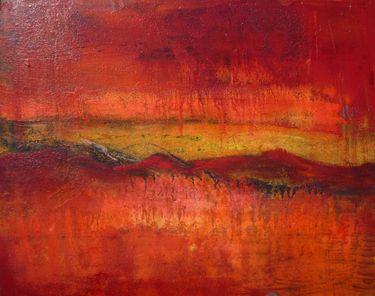 Red Mountain In The San Juans Colorado Landscape Watercolor