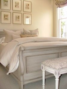 Guest Room Painted Sleigh Bed Bedroom White Chalk