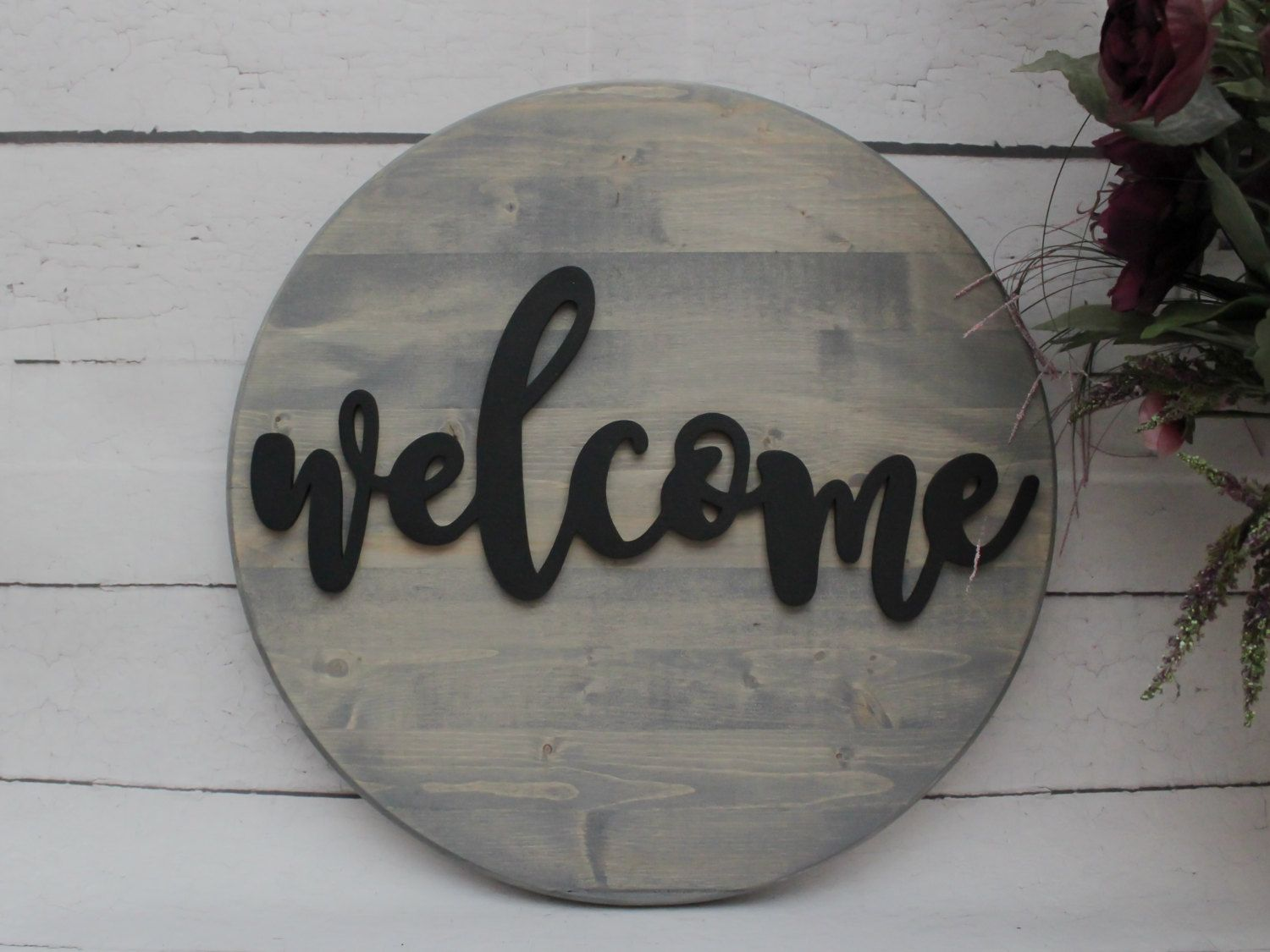 Wooden Signs For Home Decor Awesome Welcome Sign Round Wood Sign Welcome Wood Sign Home Decor Decorating Inspiration