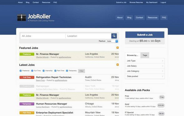 Download JobRoller v185 WordPress Job Board Theme Nulled - wordpress resume theme