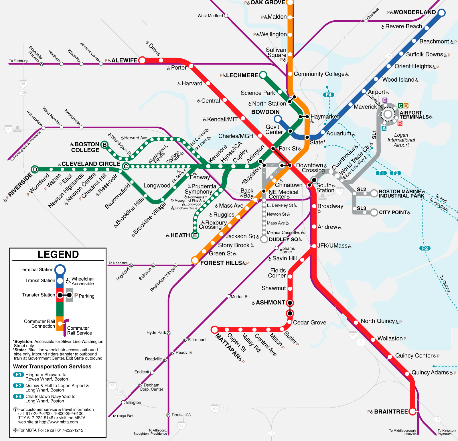 Mass Subway Map