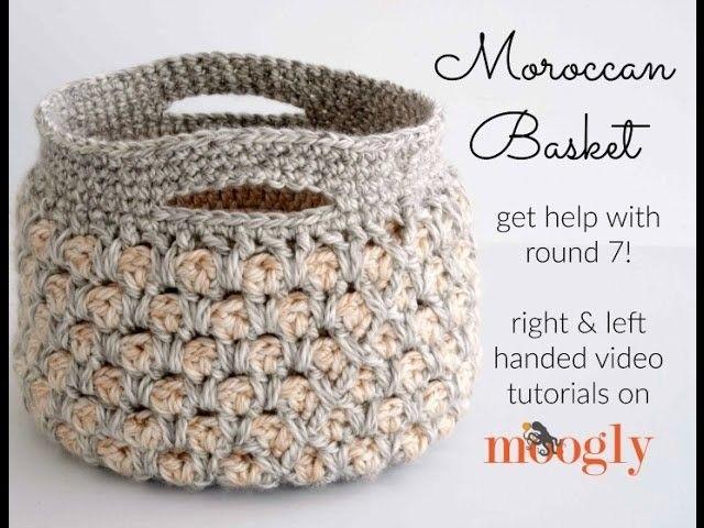 How to Crochet: Moroccan Basket (Left Handed)