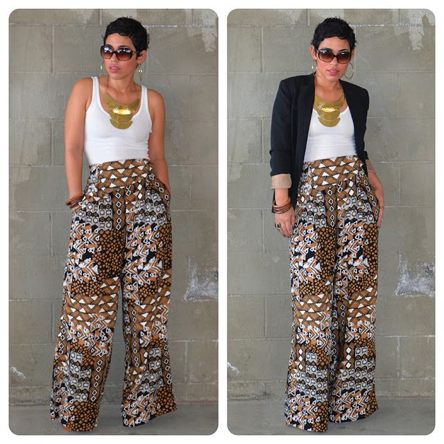 wide-leg, high-waist DIY Pants | Haute | Pinterest | Palazzo pants ...