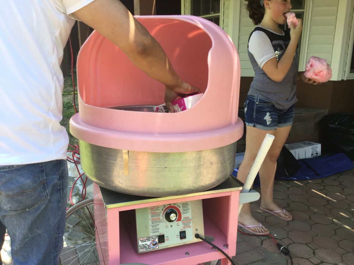 Cotten candy machine you can buy one on target or Walmart ...
