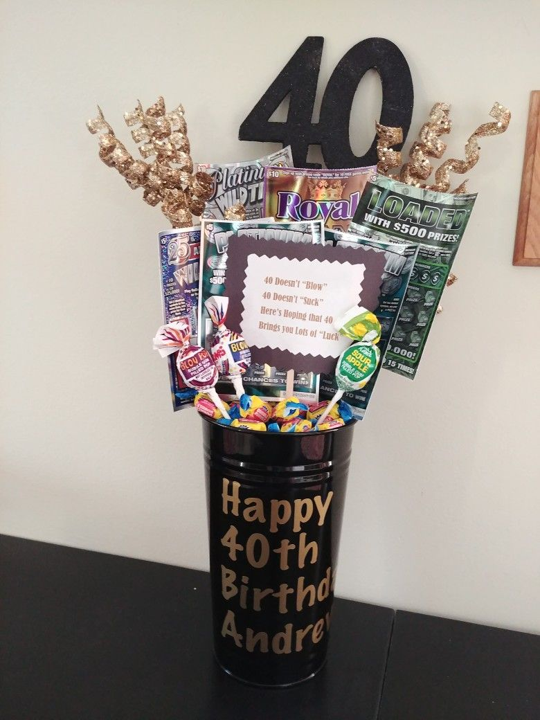 40th Birthday Ideas 50th Lottery Bouquet Husband Gift Idea
