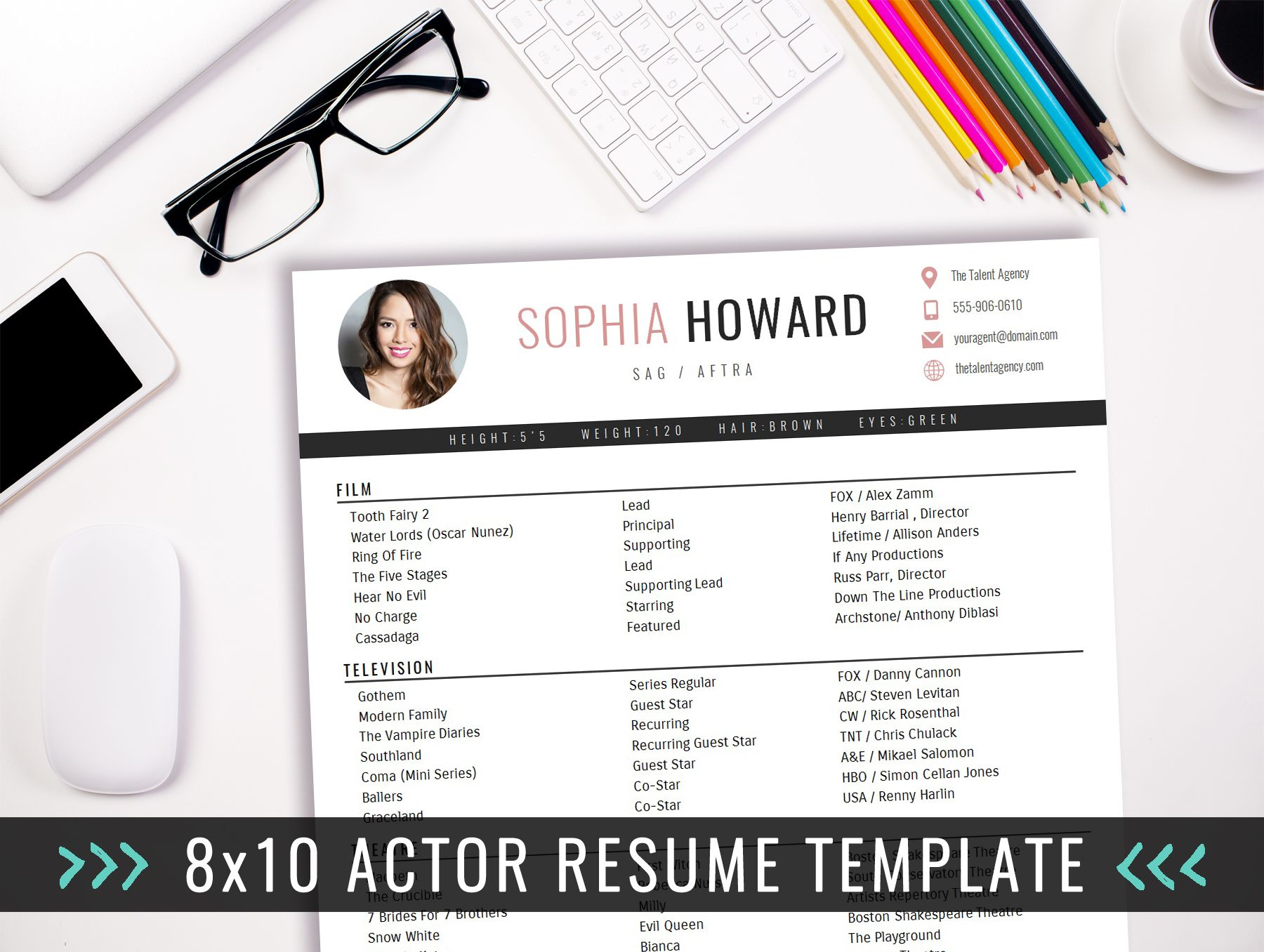 X Actor Resume Template With Photo  X Actor Resume Template