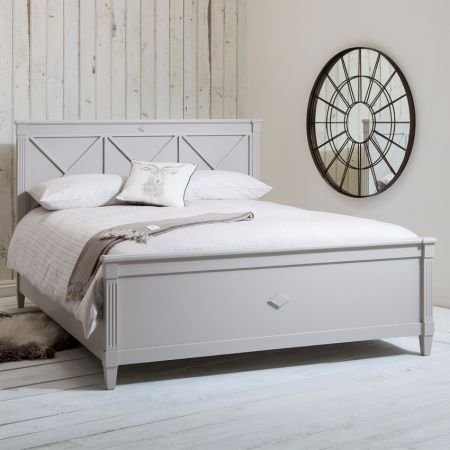 Frank Hudson Shabby Chic Grey Bed King Size Bd 2054 Furniture