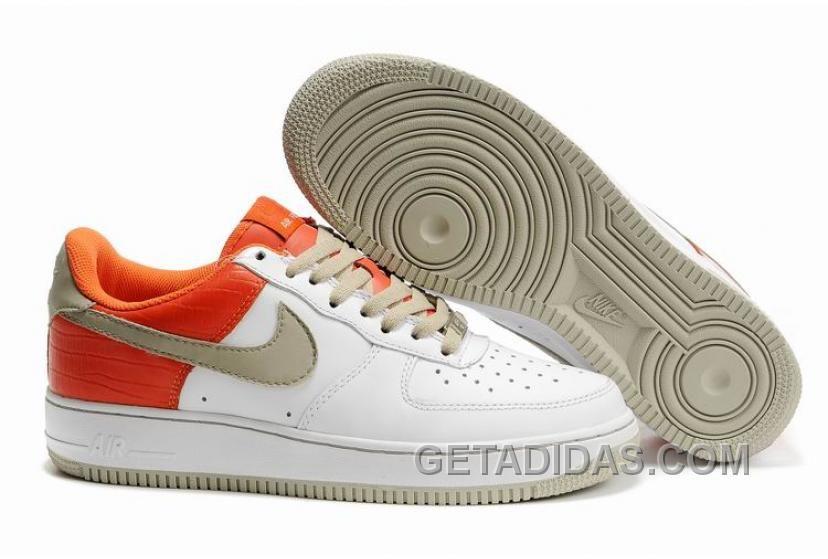 Soldes Bienvenue A Acheter Pas Cher Femme Nike Air Force 1 Low Blanche Stone Engine 1 Orange En France