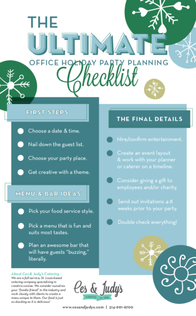 The Ultimate Office Holiday Party Planning Checklist Ces Judys
