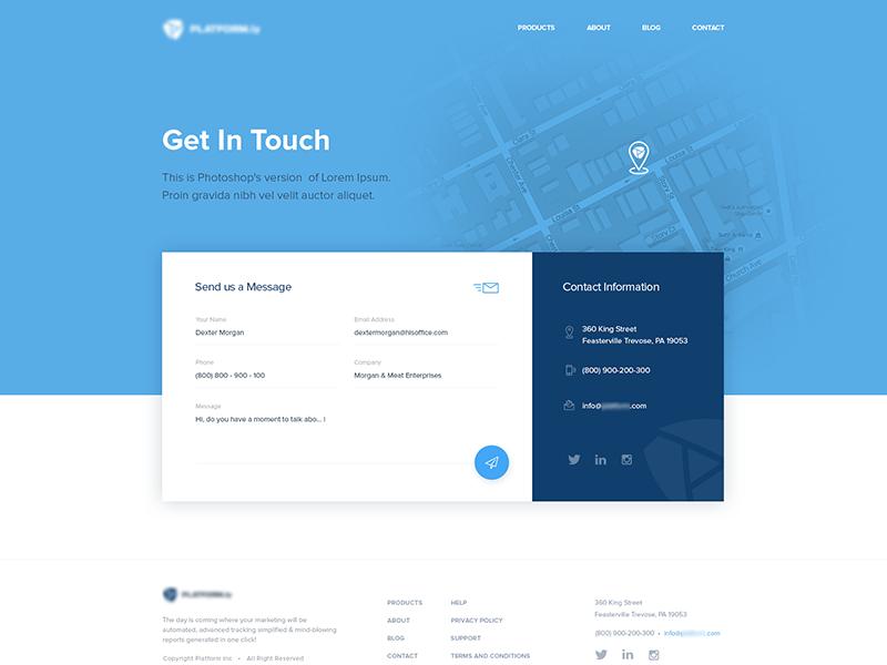 Form Design Inspiration Web Design Contact Us Page Design Form