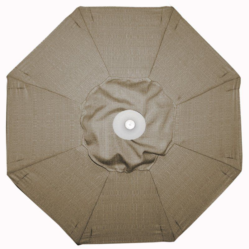 Galtech 9-ft. Aluminum Auto Tilt Sunbrella Patio Umbrella with Umbrella Lights Sunbrella Sesame Linen / Grade A - 936BK-80