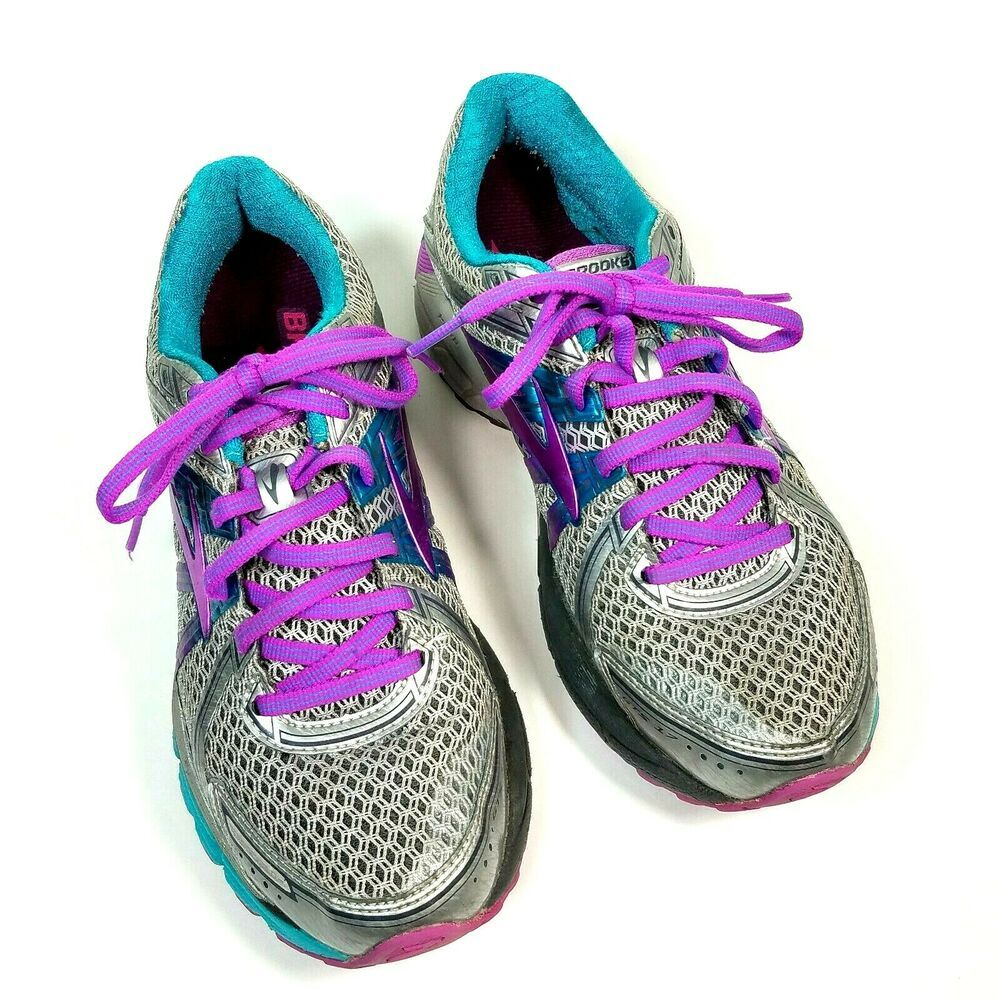 6ed217f318c7e Brooks GTS 17 Sneakers Womens 8B Athletic Running Shoes Purple Silver Aqua   brooks  athleticshoes