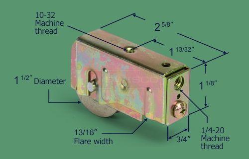 81 004 Patio Door Roller 1 1 2 Steel Ball Bearing Patio Door Rollers Patio Doors Doors