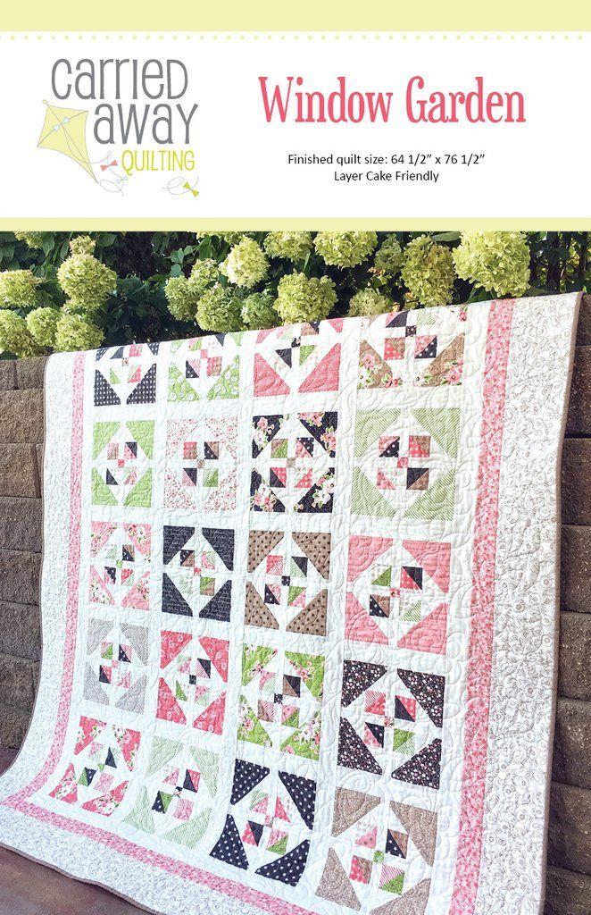 Window Garden Quilt Pattern by Taunja Kelvington of Carried Away ... : quilt pattern designer - Adamdwight.com