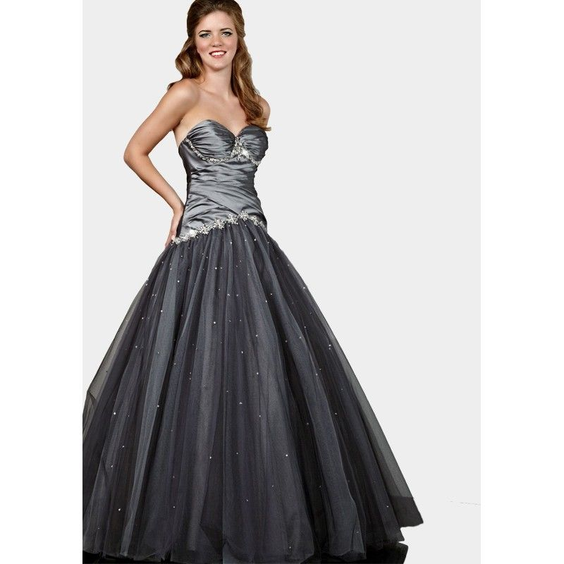 Images of Black And Silver Prom Dress - Reikian