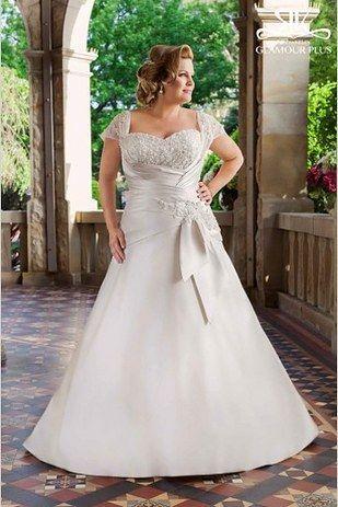 992ec33f83 Elegante vestido para novias gorditas. Tiffanie de Roz La Kelin de la  coleccion Glamour Plus