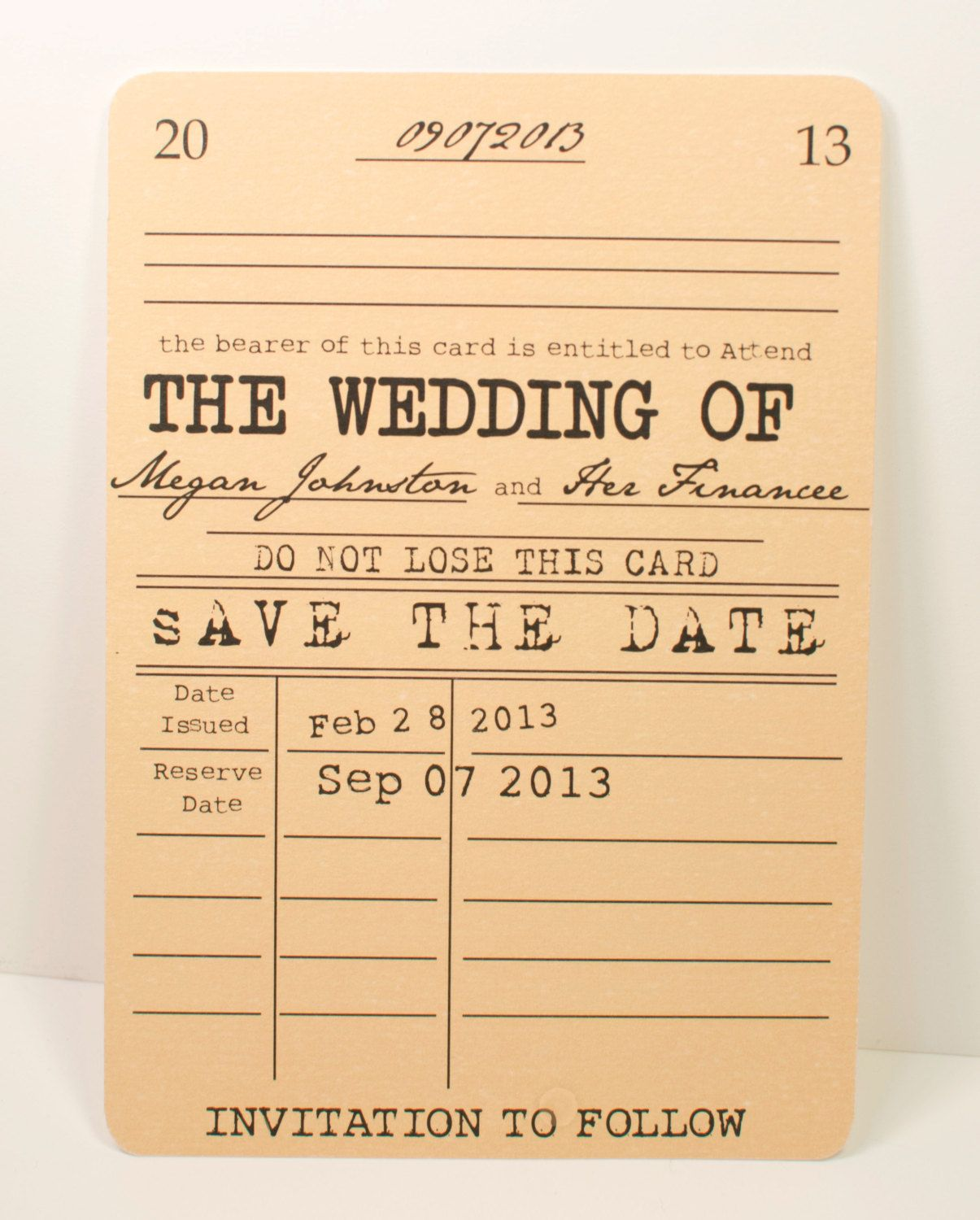 Vintage Library Save the Date Card - Literary Theme. $1.25, via ...
