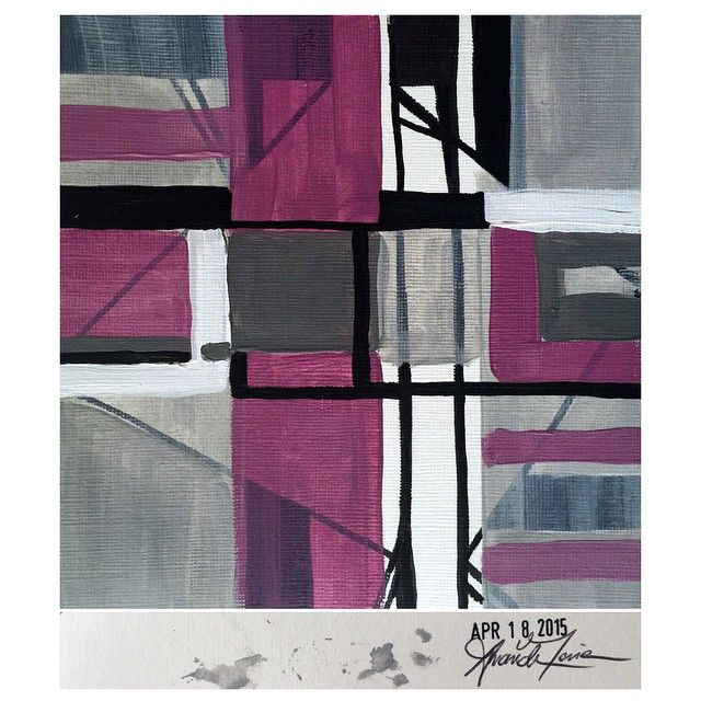 April 18, 2015 (6x6) original painting signed and dated on the back #amoriedailypainting #art #artist #gallery #line #design
