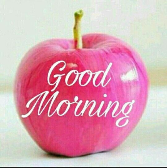 An Apple A Daym Good Morning Guten Morgen Guten