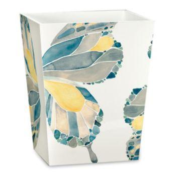 Designer Shell Rummel Butterfly Bath Collection Wastebasket