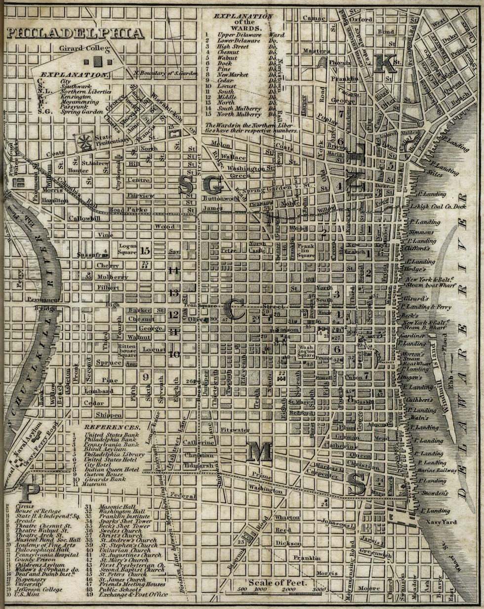Philadelphia Grid in 2019 | Historical maps, Pennsylvania ...
