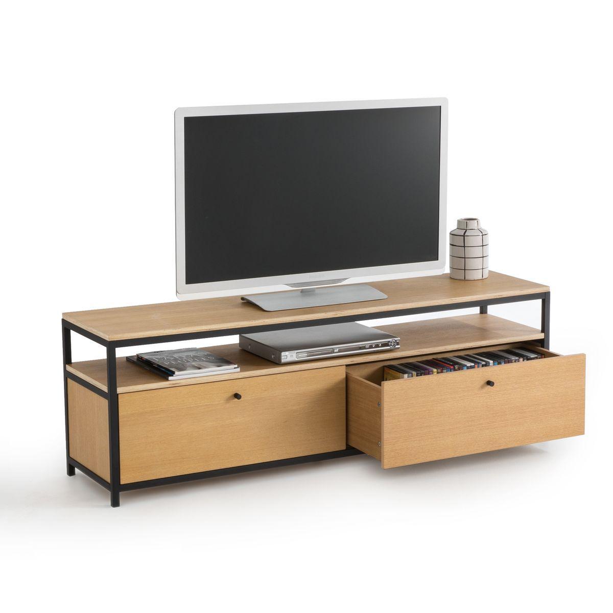 Meuble Tv Grande Taille banc tv 160 cm, talist | banc tv, grande niche et grands tiroirs