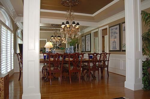 crown molding in the dining room - #molding #crownmolding ...