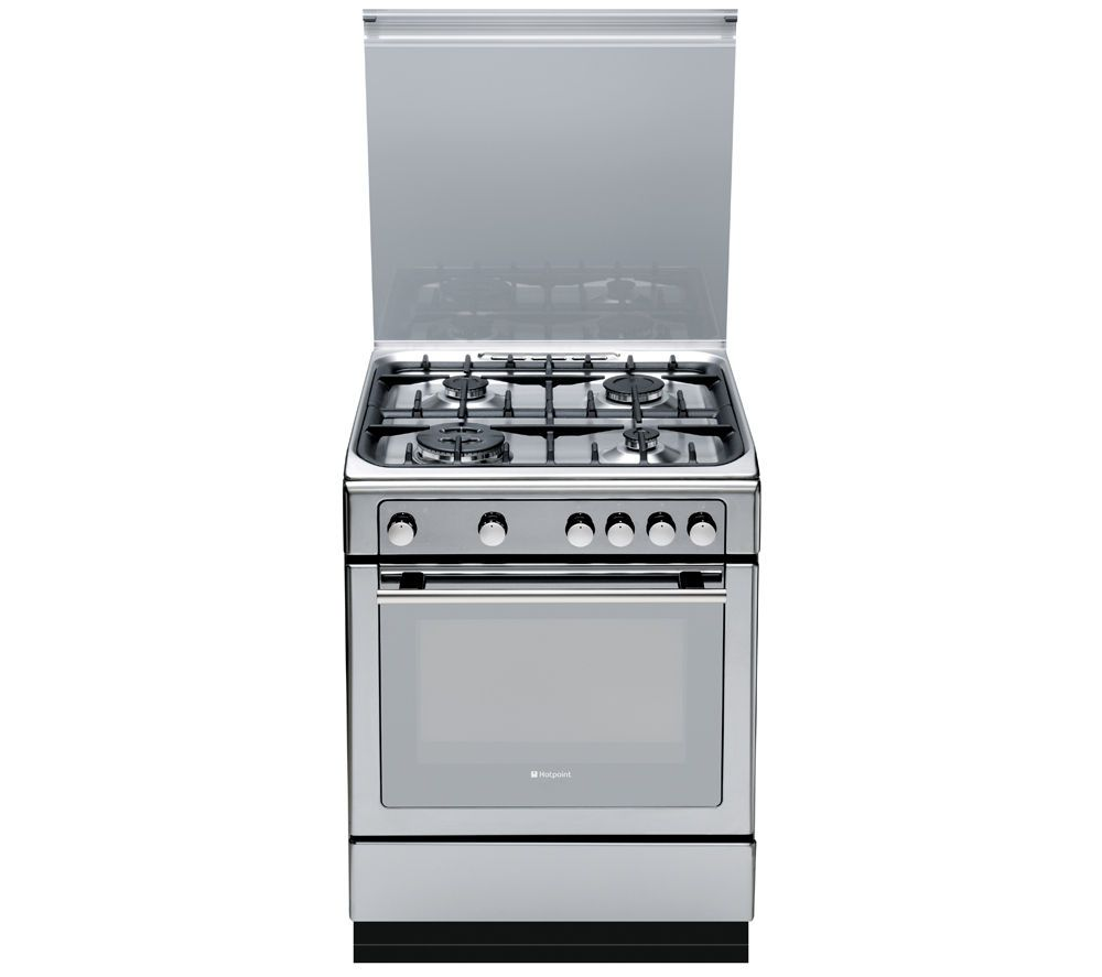 HOTPOINT DHG65SG1CX Gas Cooker - Stainless Steel, Stainless Steel ...