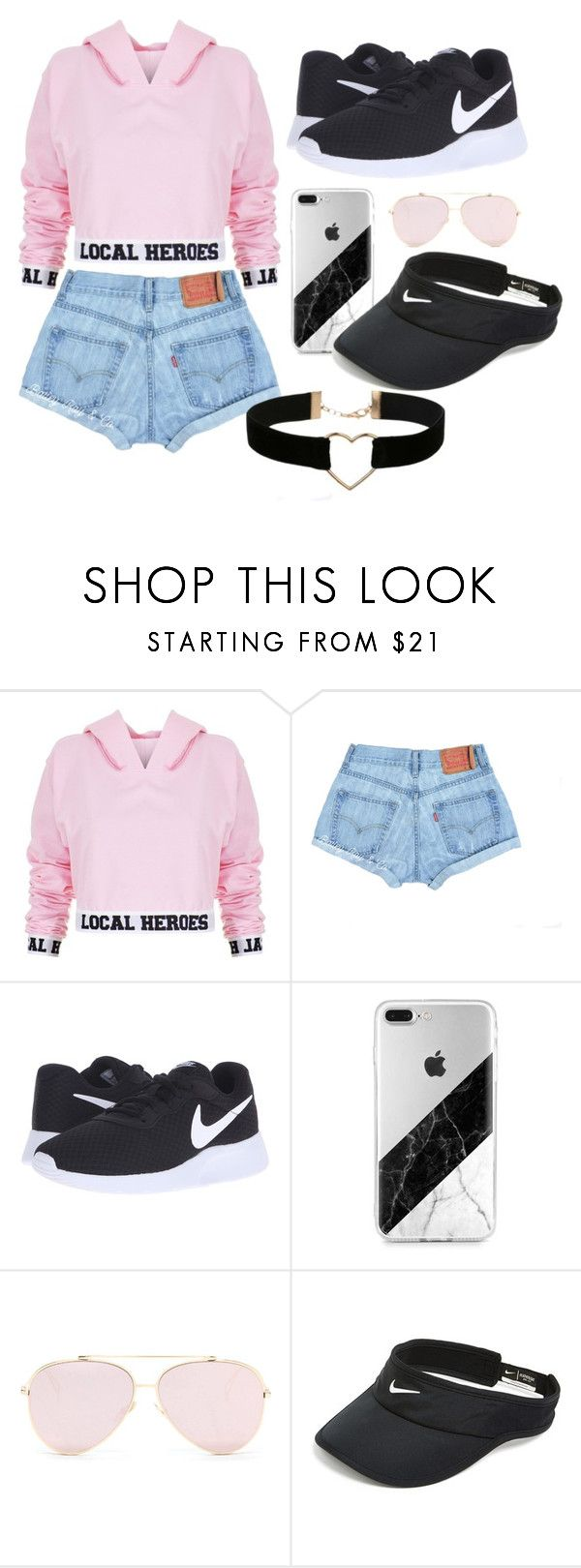 """first one"" by itzhema ❤ liked on Polyvore featuring Local Heroes, NIKE and Miss Selfridge"