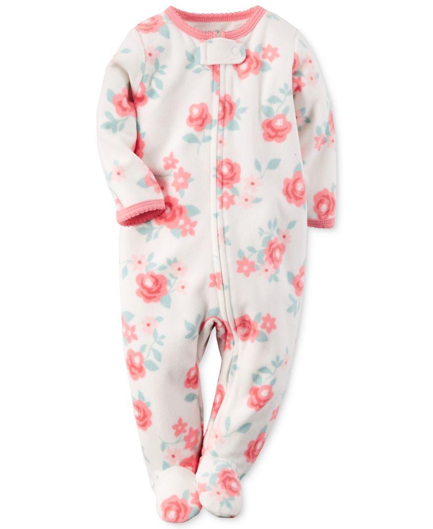 72b6fa8e0425 Carter s Baby Girls  Floral-Print Pajamas
