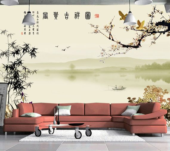 papier peint tapisserie num rique sur mesure esprit zen. Black Bedroom Furniture Sets. Home Design Ideas