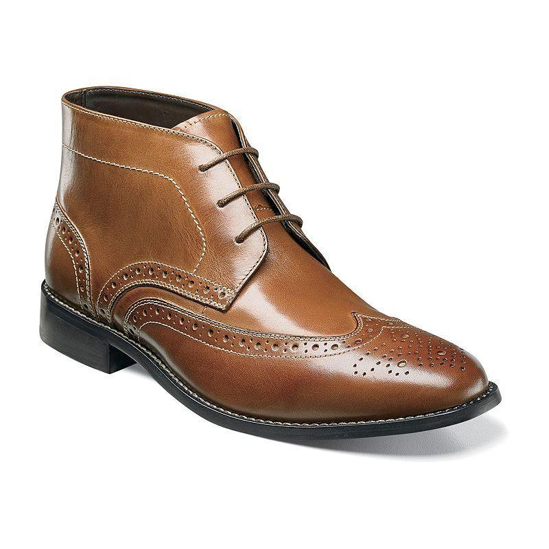 Nunn Bush Nichols Men's Wingtip Chukka Boots, Size: medium (11.5), Red/Coppr (Rust/Coppr)