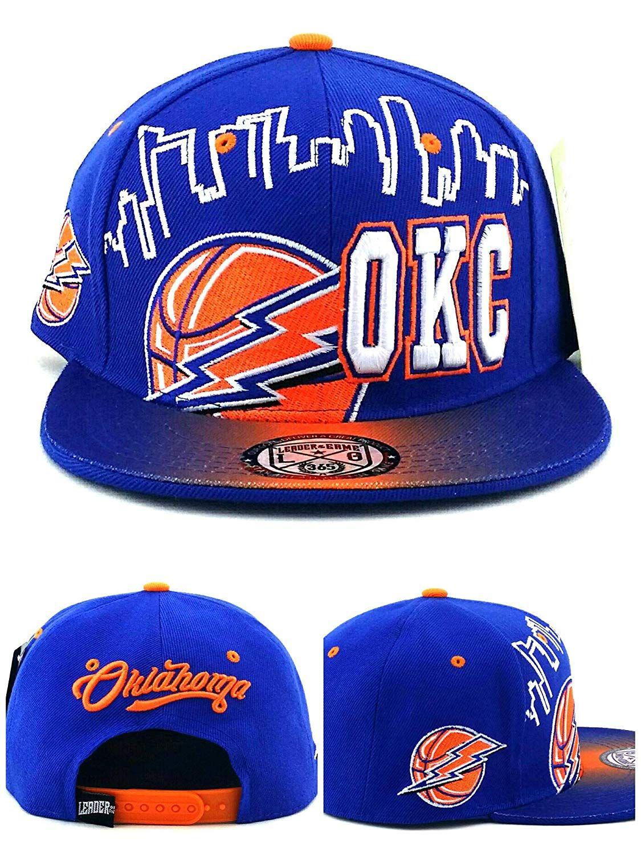 uk availability 8cc1b a89a2 ... NBA Caps   Hats.   Leader of the Game Oklahoma City OKC New Skyline  Lightning Thunder,  18.99